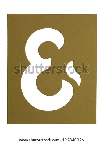 Close up image cardboard cut out sign against white background