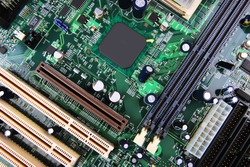 Close up image : Electronic circuit board
