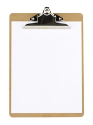 Close-up image of a notepad with blank paper.