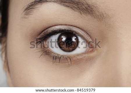 close up image of a woman's eye