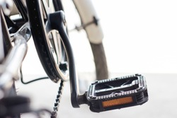 Close-up image of bicycle pedal