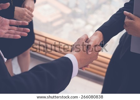 Close-up image of business partners shaking hands #266080838