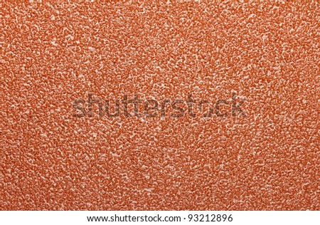 Close up image of coarse sandpaper