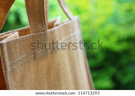 close up image of eco bag - stock photo