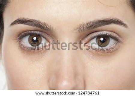 Close up image of female eye's