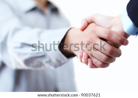 Close up image of hands in handshake