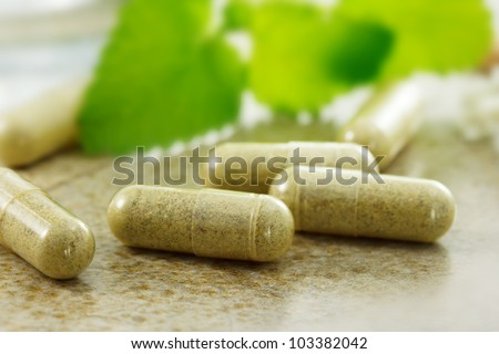 Close up image of herbal medicine