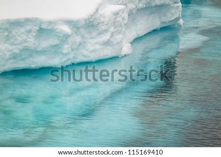Close up image of ice berg in Antarctica