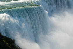 Close-up image of Niagara Falls viewed from US side