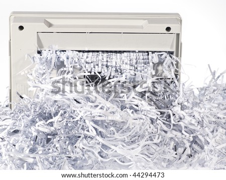 Close-up image of shredded paper