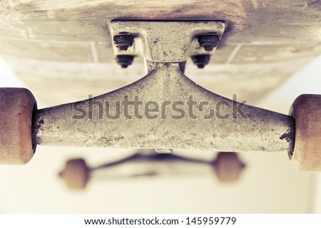 close up image of skateboard
