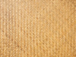 Close up image of traditional wicker surface texture pattern for use as background, handcraft weave for funiture material