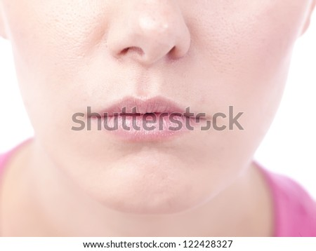 Close up image of woman's lips