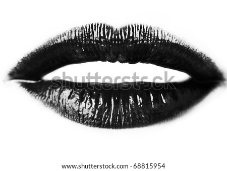 close up image of womans sexy lips - Shutterstock ID 68815954
