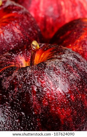 close up  juicy red apple