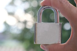close up key lock on bokeh background