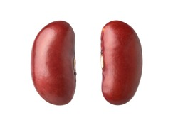 Close-up Kidney beans (red Beans)  isolated on white background. Clipping path.