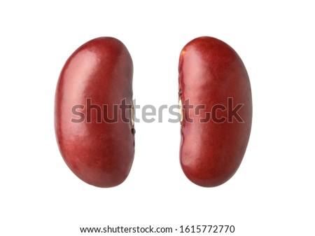 Close-up Kidney beans (red Beans)  isolated on white background. Clipping path. Photo stock ©