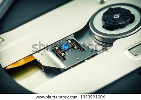 Close Up - Laser head lens of cd dvd dvdrw optical drive  #1333991006