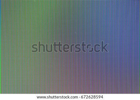Close up LED display with color shades for screen technology