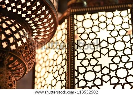Close up (macro) of an arabic light.