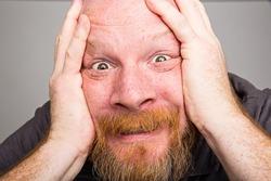 close up man face