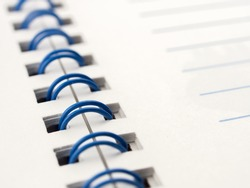 Close up memo notebook paper