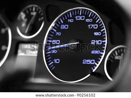 close up modern car dashboard, detail