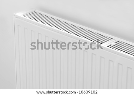 Close up modern radiator - source of heat