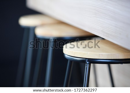 Close up modern wooden chair and desk Сток-фото ©