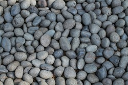 Close-up natural dry rounded stones