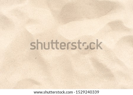 Close up Nature Beach Sand Soft Texture In Summer Sun.