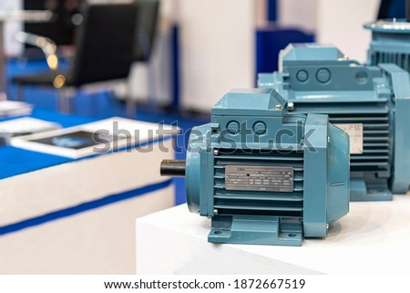 Close up new electric 3 phase induction motor for industrial on table Foto stock ©