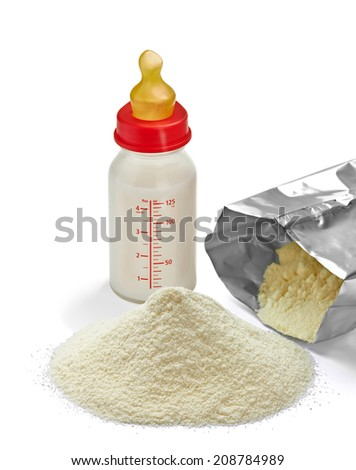 close up of a baby powder milk