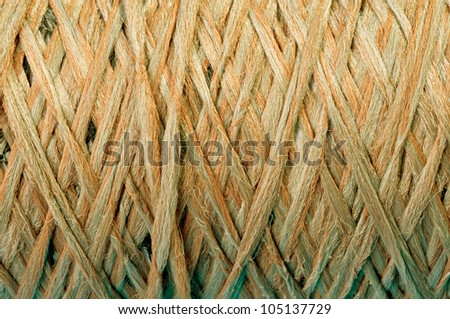 close up of a ball of string texture