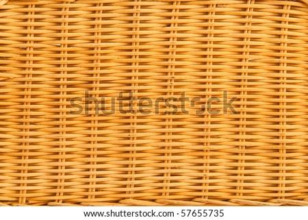 close up of a bamboo basket