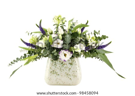 Close-up of a beautiful bouquet of flowers. Isolated on white background