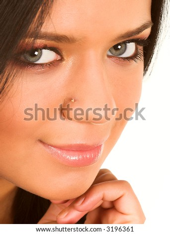 Close-up of a beautiful face