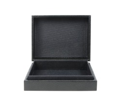 close up of a black box on white background
