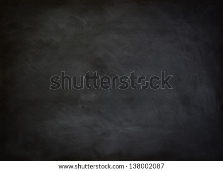close up of a black dirty chalkboard - Shutterstock ID 138002087