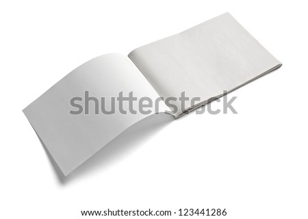 close up of a blank white paper on white background