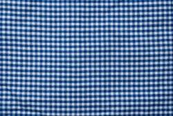Close-up of a blue gingham check shirt
