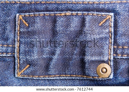 Close-up of a blue jeans