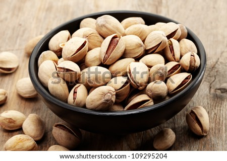 close up of a bowl of pistachio nuts