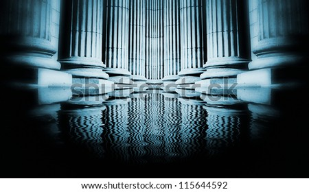 Close-up of a bright classical pillar #115644592