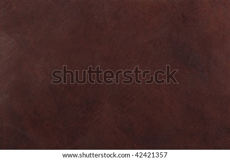 Close up of a brown leather texture