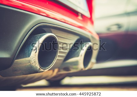 "stock photo close up of a car dual exhaust pipe 445925872 - Каталог - Фотообои ""Автомобили"""