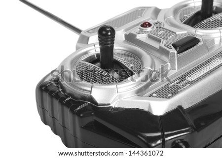 Close-up of a car game controller - stock photo