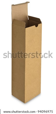 close up of a card box on white background