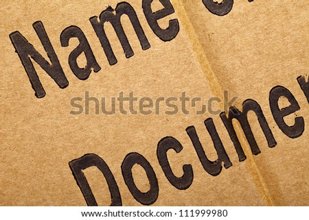 Close up of a cardboard background